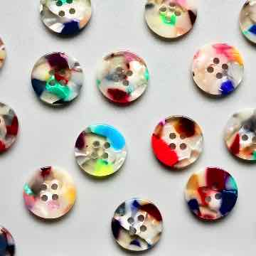 painterly 15mm shirting button